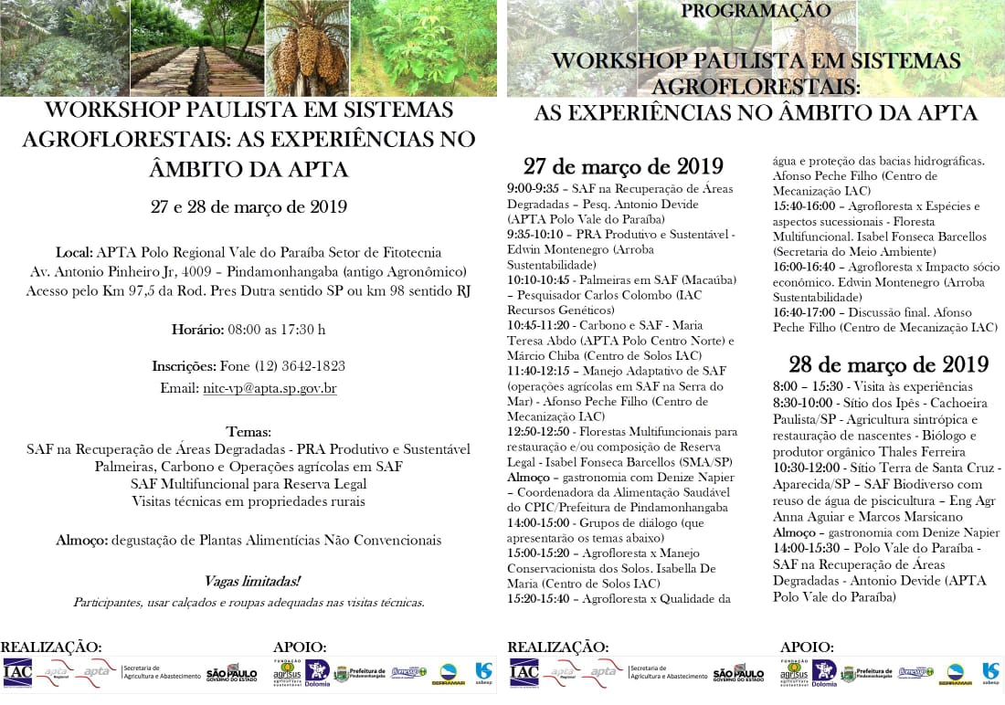 Workshop em SAFs Experiencias APTA